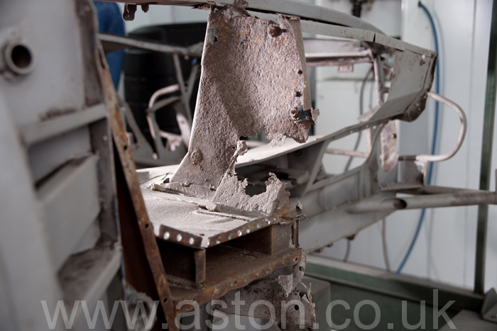 A common rust area, yet vital to fully repair to ensure safety.